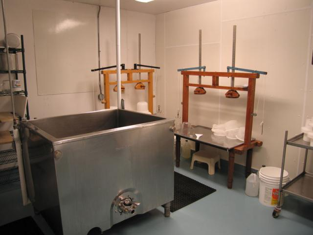 Cheeseroom - we make cheese twice a week from November to May